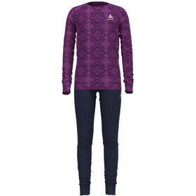 Odlo Active Warm Long Winter Specials Set Kinderen, hyacinth violet graphic20/diving navy